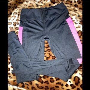 Danskin Now Black/Pink Straight Leg Pants Size S